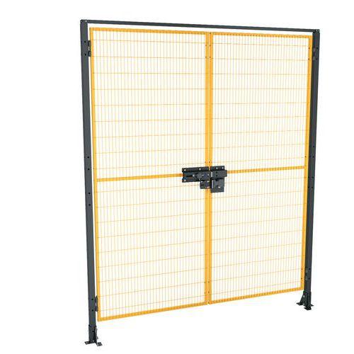 Zestaw okuć na drzwi dwuskrzydłowe do ogrodzenia ochronnego