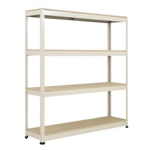 Regały metalowe Rapid 1, 198 x 152,5 x 45,5 - 61 cm, 1 760 kg, 4 półki z płyty wiórowej, srebrne