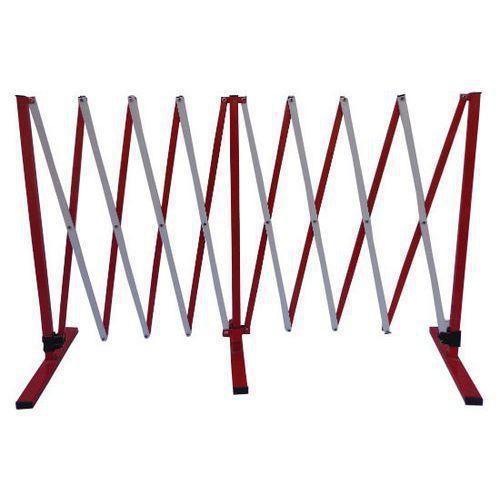Metalowa barierka mobilna Manutan, składana, długość 400 cm