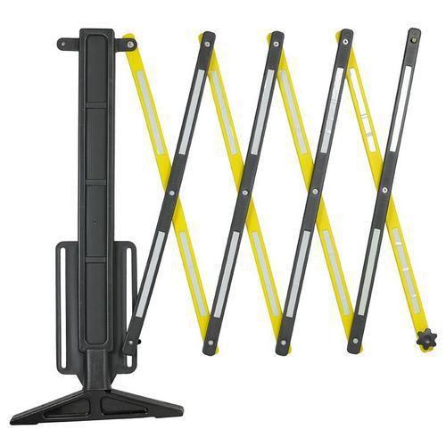 Dodatkowe plastikowe mobilne barierki z elementami odblaskowymi, składane, długość 2 000 mm