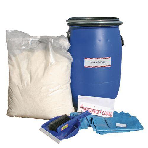 Zestaw awaryjny z sorbentem hydrofobowym Reosorb, do oleju, pojemność wchłaniania 40 l