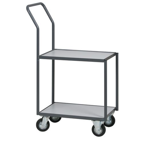 Groovy Wózek na skrzynki z powierzchnią ładunkową, 2 półki, do 200 kg EY83