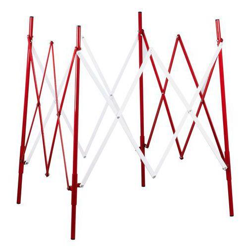 Kwadratowa metalowa barierka mobilna, składana, długość 1 000 x 100 cm