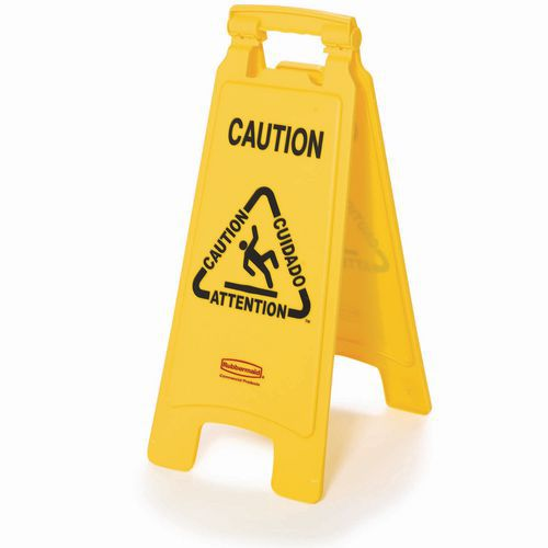 Przenośna tablica ostrzegawcza Rubbermaid - Uwaga