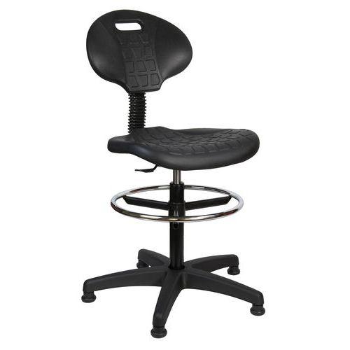 Krzesło robocze podwyższone ze ślizgami
