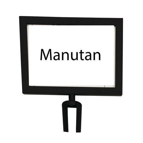 Tablice informacyjne do odgradzania słupków Manutan 2 m, czarne