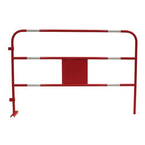 Metalowe barierki mobilne Manutan, długość 150 cm