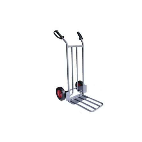 Składany wózek transportowy Manutan RU51 z pełnymi kołami, do 250 kg