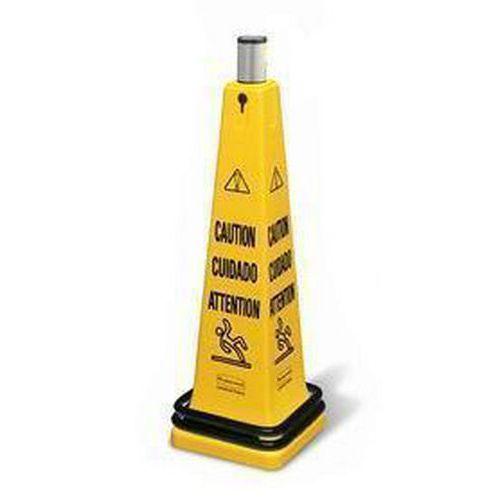 Przenośny pachołek ostrzegawczy Rubbermaid Safety Cone z taśmą rolującą - Uwaga