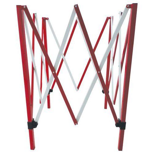Kwadratowa metalowa barierka mobilna Manutan, składana, długość 130 x 130 cm
