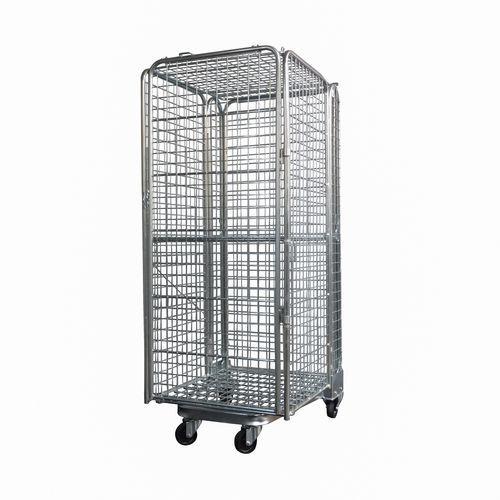 Mobilny kontener ze ściankami z kratownicy i z możliwością układania w stosy, do 400 kg