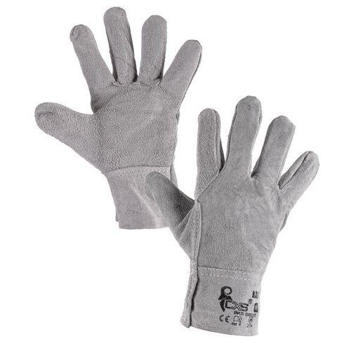 Rękawice skórzane CXS, szare