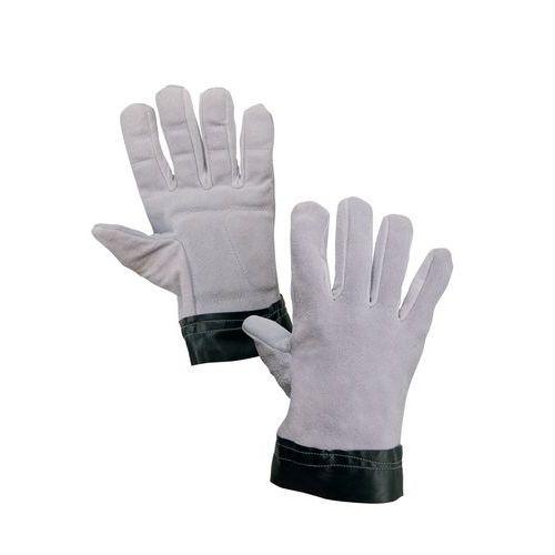 Rękawice skórzane antywibracyjne CXS, szare/czarne