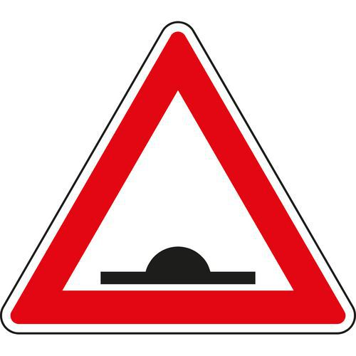 Znak drogowy Uwaga, próg spowalniający (A7b)
