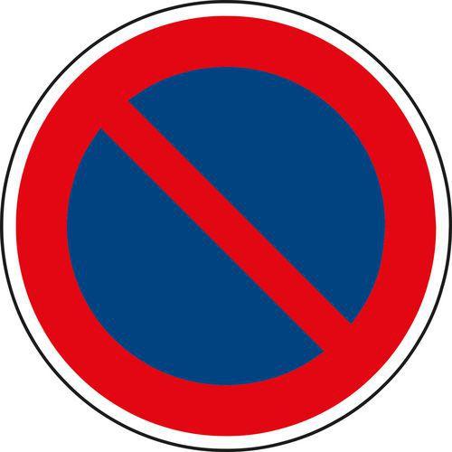 Znak drogowy Zakaz postoju (B29)