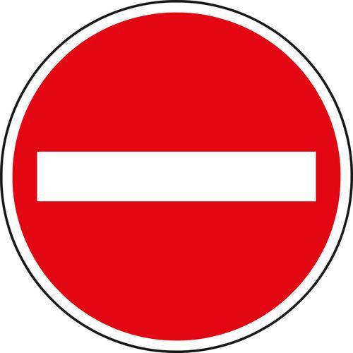 Znak drogowy Zakaz wjazdu wszelkich pojazdów (B2)