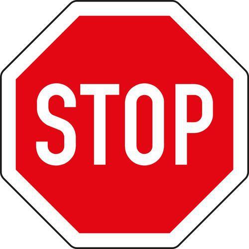 Znak drogowy Stop, daj pierwszeństwo jazdy (P6)