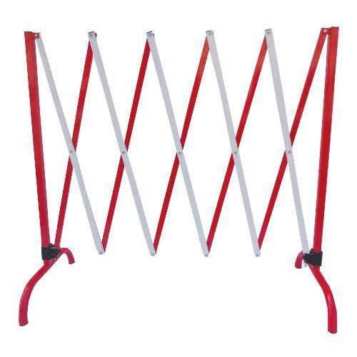 Metalowa barierka mobilna Manutan, składana, długość 230 cm