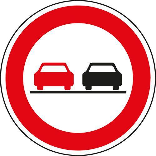 Znak drogowy Zakaz wyprzedzania (B21a)