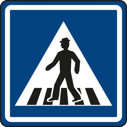 Znak drogowy przejście dla pieszych (IP6)