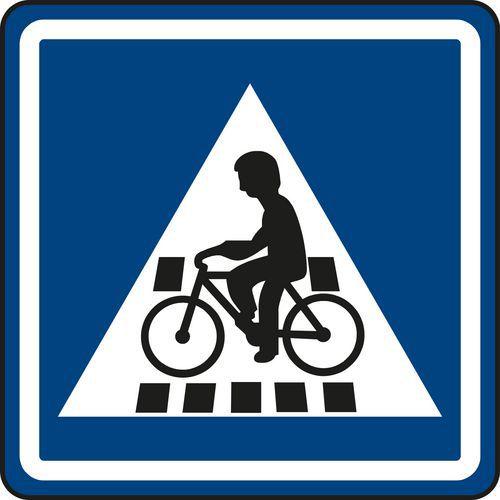 Znak drogowy Przejazd dla rowerzystów (IP7)