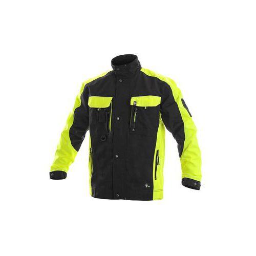Męska bluza robocza CXS Sirius Brighton, czarna/żółta
