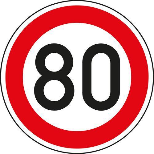 Znak drogowy Maksymalna dopuszczalna prędkość (B20a)