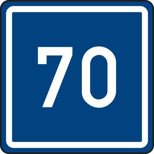 Znak drogowy Zalecana prędkość (IP5)