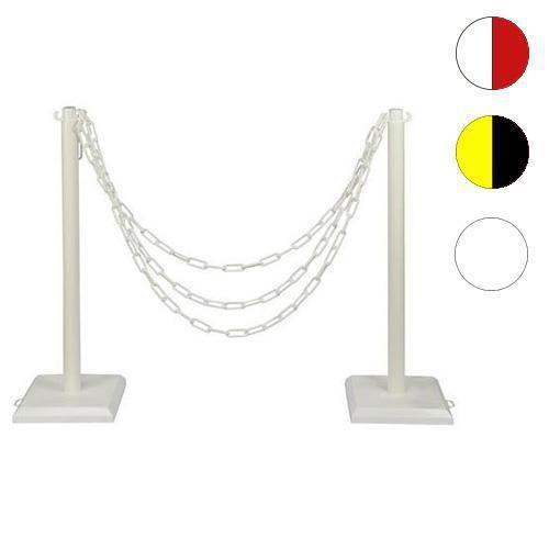 Plastikowe słupki odgradzające Ping z łańcuchem, wysokość 90 cm, 2 szt.