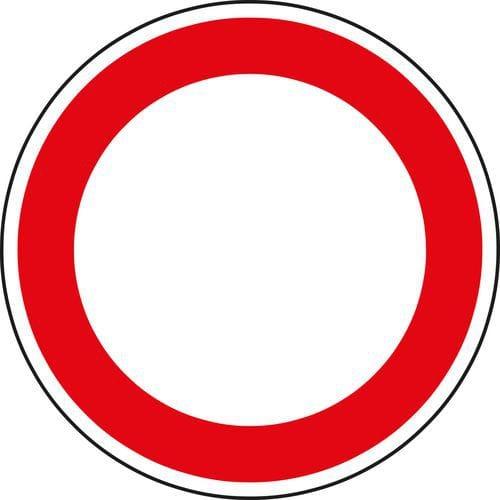Znak drogowy Zakaz wjazdu wszelkich pojazdów (w obu kierunkach) (B1)