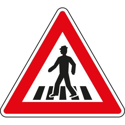 Znak drogowy Uwaga, przejście dla pieszych (A11)