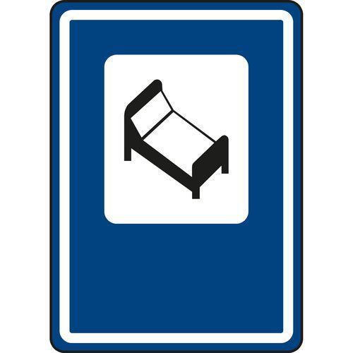 Znak drogowy Hotel lub motel (IJ10)