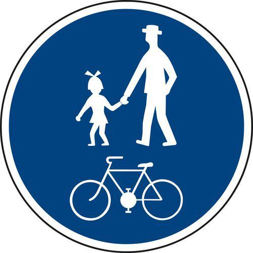 Znak drogowy Ścieżka dla pieszych rowerzystów (C9a)