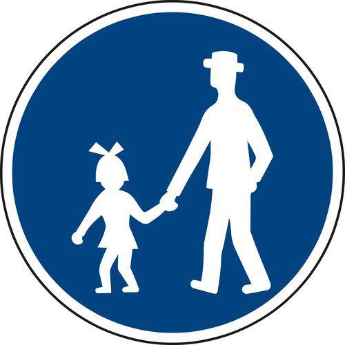 Znak drogowy Ścieżka dla pieszych (C7a)