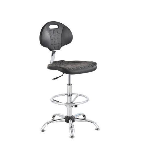 Krzesło antystatyczne ESD robocze Ralph z podnóżkiem i na płozach