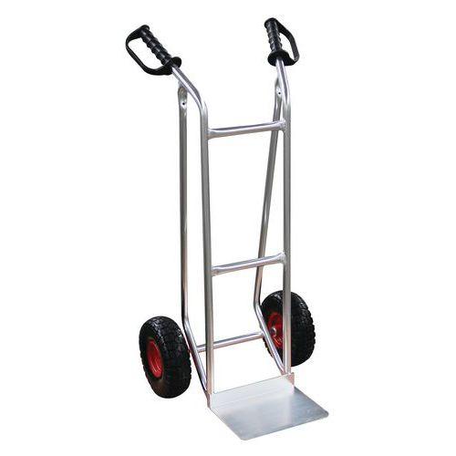 Aluminiowy wózek transportowy Manutan RU53 z kołami bezdętkowymi, do 200 kg