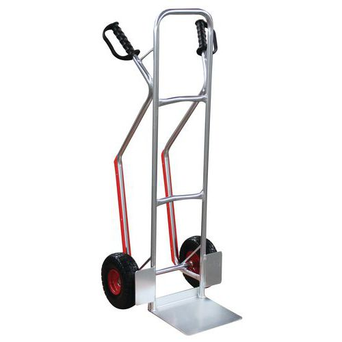 Aluminiowy wózek transportowy Manutan RU56 z kołami bezdętkowymi, do 200 kg