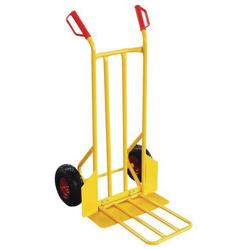 Pochylany wózek transportowy z oponami bezdętkowymi, do 250 kg
