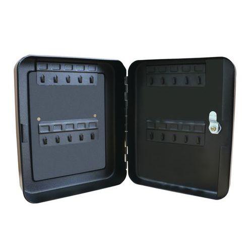 Szafka na klucze Manutan Eco Key, 20 haczyków, czarna