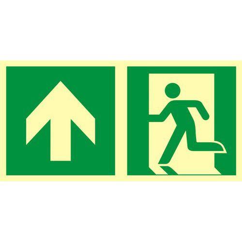 Kierunek do wyjścia ewakuacyjnego - w górę (lewostronny)