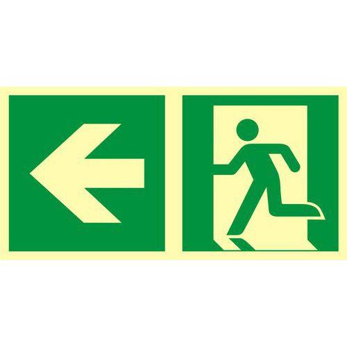 Kierunek do wyjścia ewakuacyjnego – w lewo
