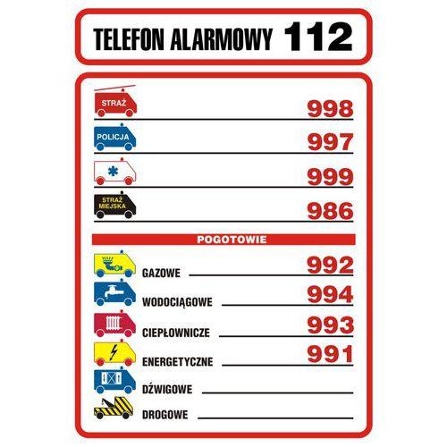Tabliczka telefonów alarmowych
