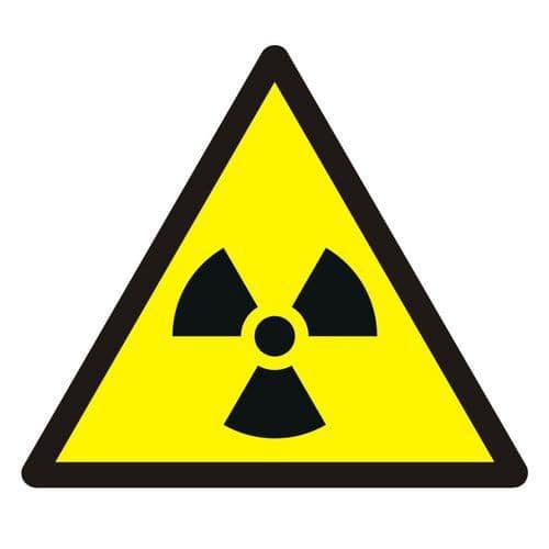 Ostrzeżenie przed materiałem radioaktywnym lub promieniowaniem jonizującym