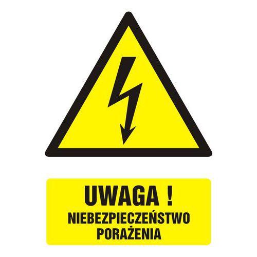 Uwaga! niebezpieczeństwo porażenia