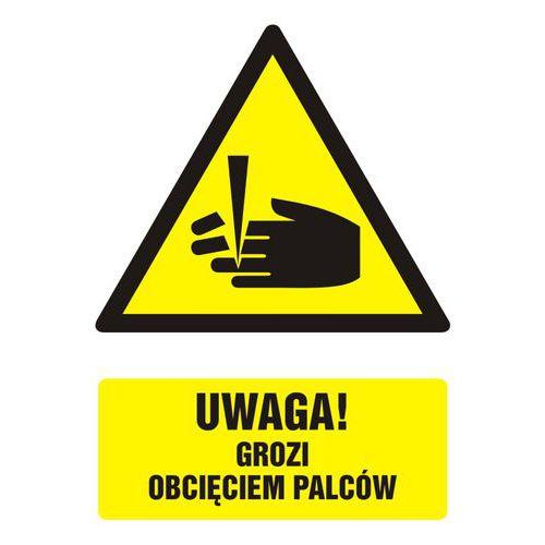 Uwaga - niebezpieczeństwo obcięcia palców