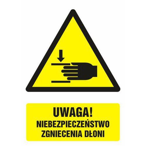 Uwaga ! Niebezpieczeństwo zgniecenia dłoni