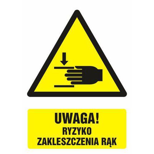 Uwaga ! Ryzyko zakleszczenia rąk