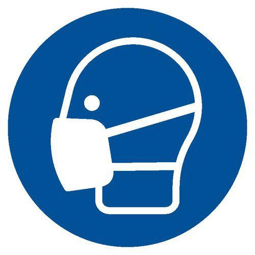Nakaz stosowania maski przeciwpyłowej 5,25 X 5,25 nieświec. folia