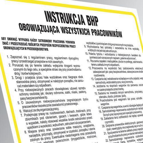 Instrukcja BHP przy wykonywaniu prac murarskich oraz tynkarskich 24,5 X 35 nieświec. płyta cienka PCV