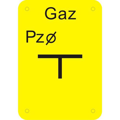 Tablica punktu załamania gazociągu